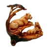 Wood Effect Tiger Family under Tree