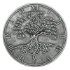 Tree of Life Silver Effect Terracotta Clock by Lisa Parker