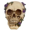 Skull with Purple Roses