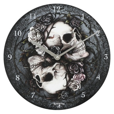 Alchemy Dioscuri Skull Wall Clock
