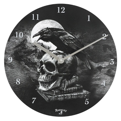 Raven Wall Clock by Alchemy
