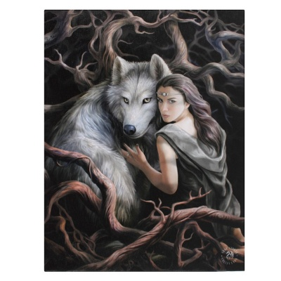 Soul Bond Small Canvas by Anne Stokes