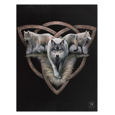 Wolf Trio Small Canvas by Anne Stokes