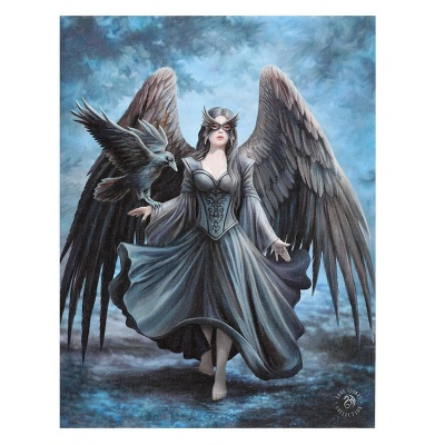 Raven small canvas by Anne Stokes