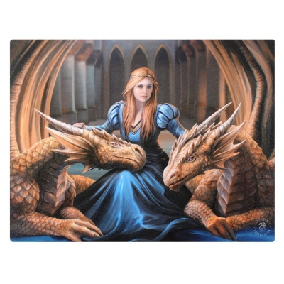 Fierce Loyalty Small Canvas by Anne Stokes