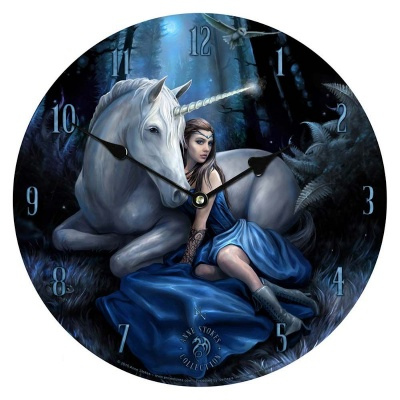 Blue Moon Clock by Anne Stokes