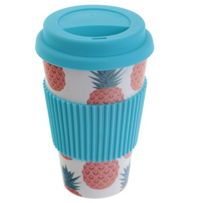 Pineapple bamboo travel mug by Bambootique