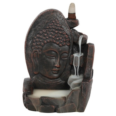 Buddha Face Backflow Burner Brown
