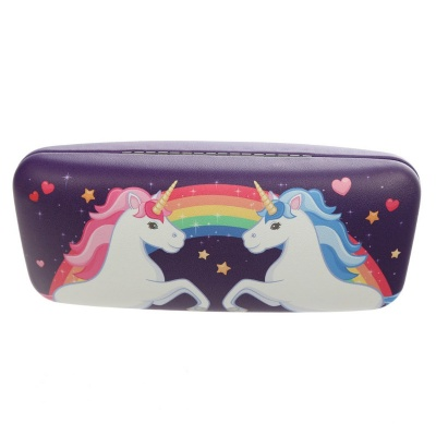 Purple Unicorn glasses case