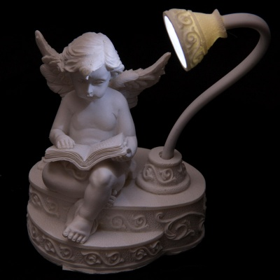 LED Cherub Reading Book