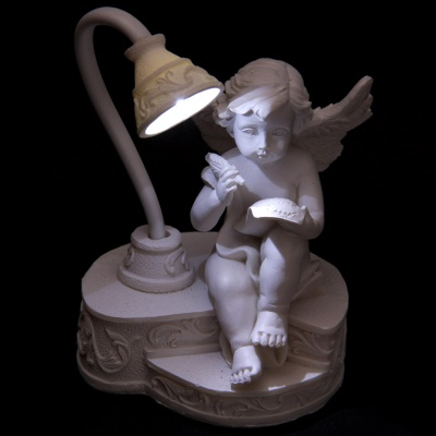 LED Cherub Writing