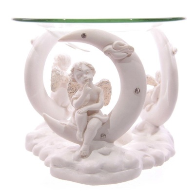 Cherubs on crescent moons Oil Burner