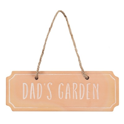 Dad's Garden Terracotta Sign