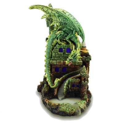 Green Dragon on Castle Backflow Burner