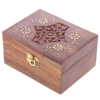 12 Bottle Sheesham Wood Essential Oil Box
