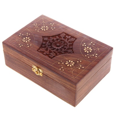 24 Bottle Sheesham Wood Essential Oil Box