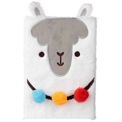 Fluffies Llamapalooza Plush Notebook