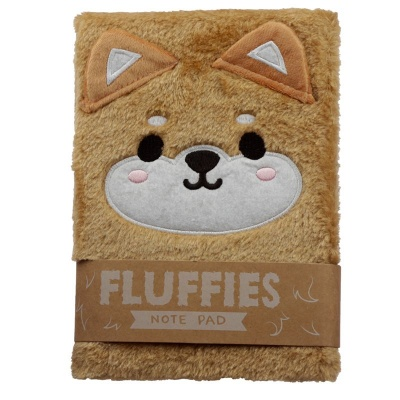 Fluffies Shiba Ina Dog Plush Notebook