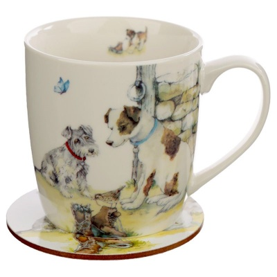 Dog Mug Coaster Set by Jan Pashley