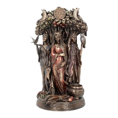 Maiden Mother Crone Bronze Figurine