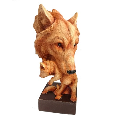 Natural Protection Wolf Bust