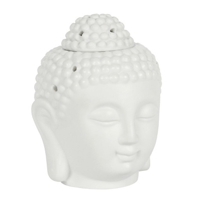White Buddha Head Oil Burner