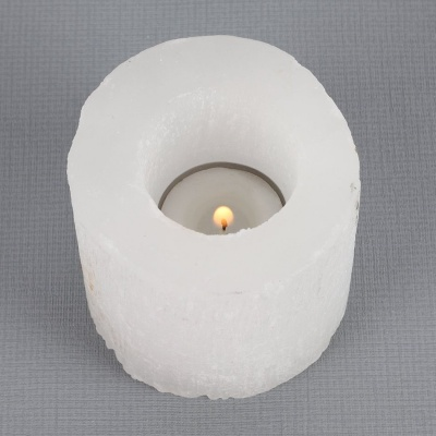 Selenite Cylinder Tealight Holder Small