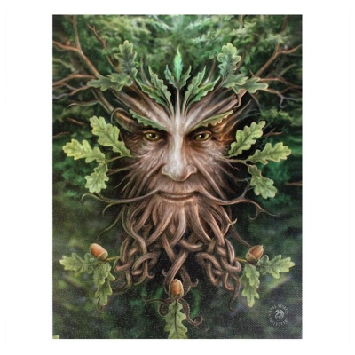 Oak King Small Canvas by Anne Stokes