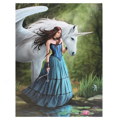 Enchanted Pool Small Canvas by Anne Stokes