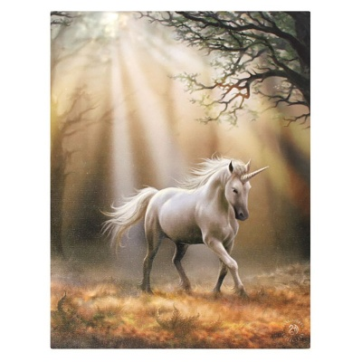 Glimpse of a Unicorn small canvas by Anne Stokes