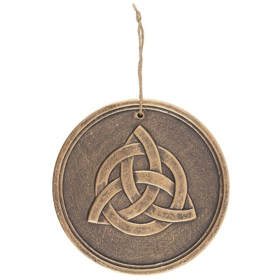 Triquetra Bronze Effect Plaque