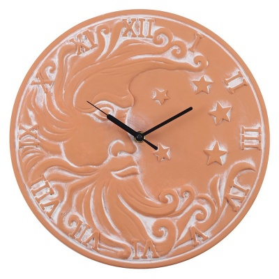 Terracotta Moon Clock