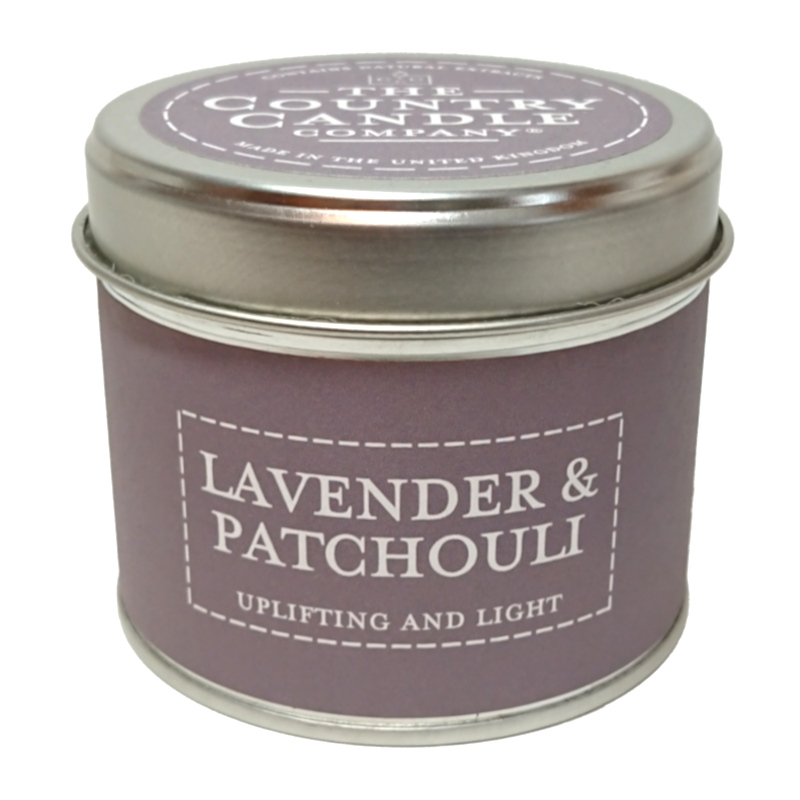 Lavender and Patchouli Pastels Candle Tin