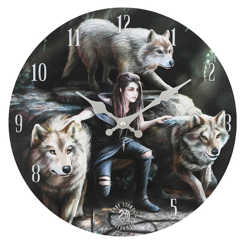 Power of Three Clock by Anne Stokes