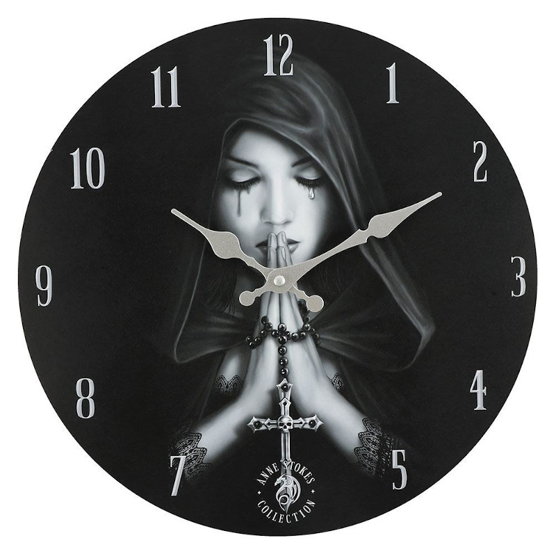 Gothic Prayer Clock by Anne Stokes