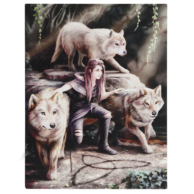 Power of Three Small Canvas by Anne Stokes