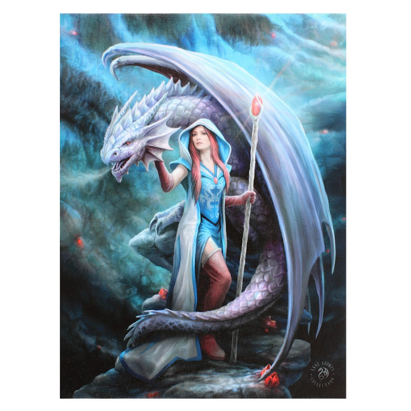 Dragon Mage small canvas by Anne Stokes