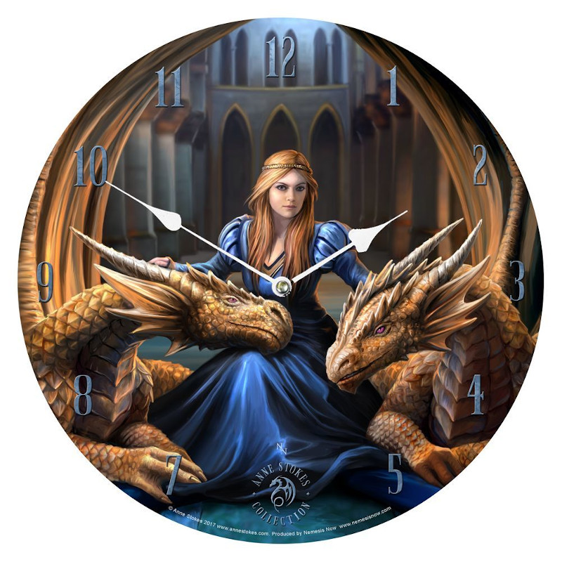 Fierce Loyalty Clock by Anne Stokes