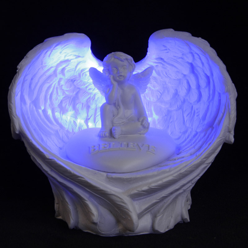 LED Believe Cherub Angel Wings