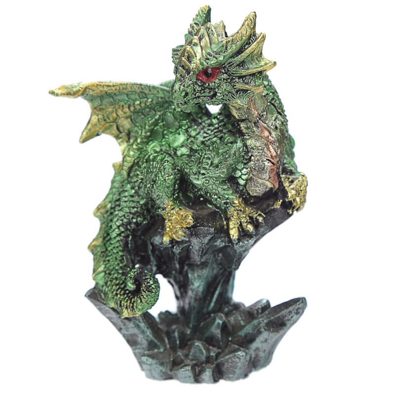 Green Mini Rock Crystal Dragon