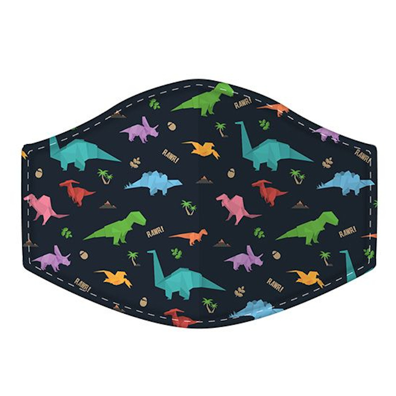 Dinosaur Reusable Face Covering Small