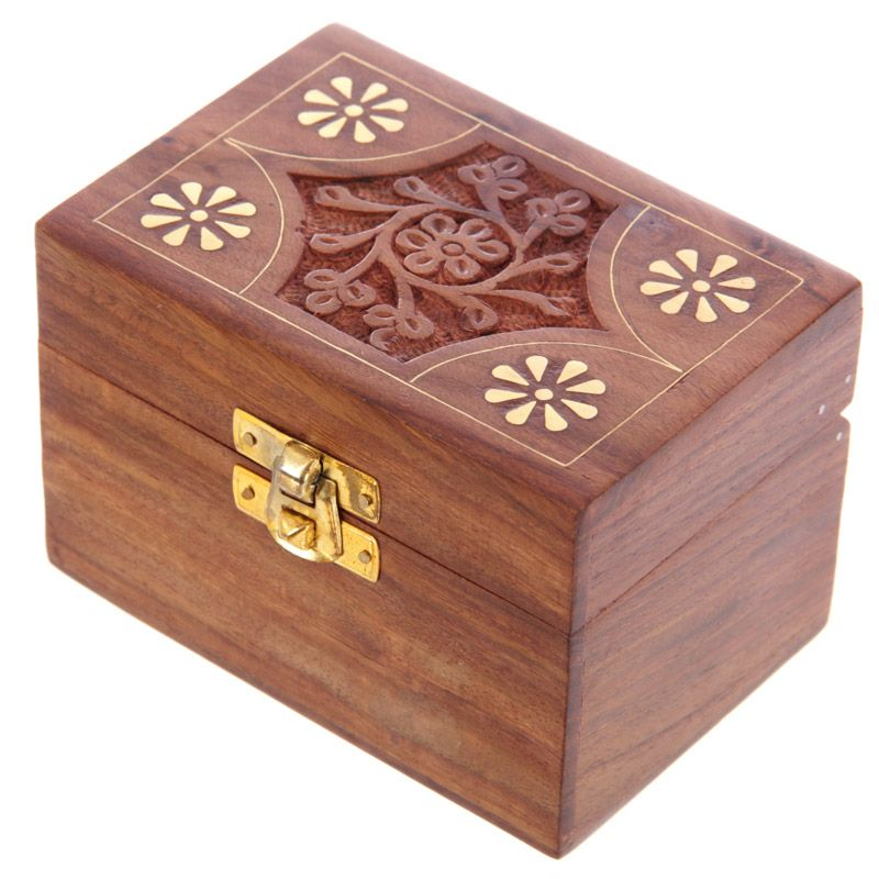 6 Bottle Sheesham Wood Essential Oil Box