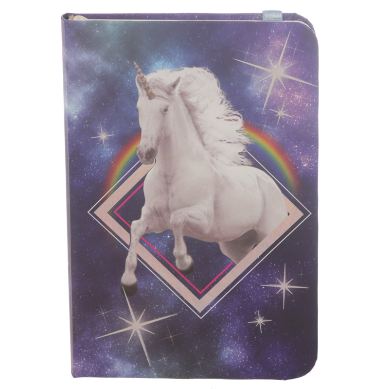 Cosmic Unicorn Hardbacked Lined Notebook