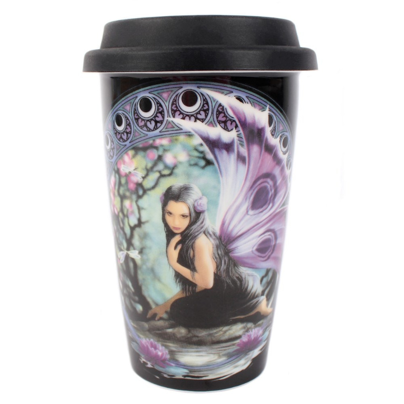 Naiad Travel Mug by Anne Stokes