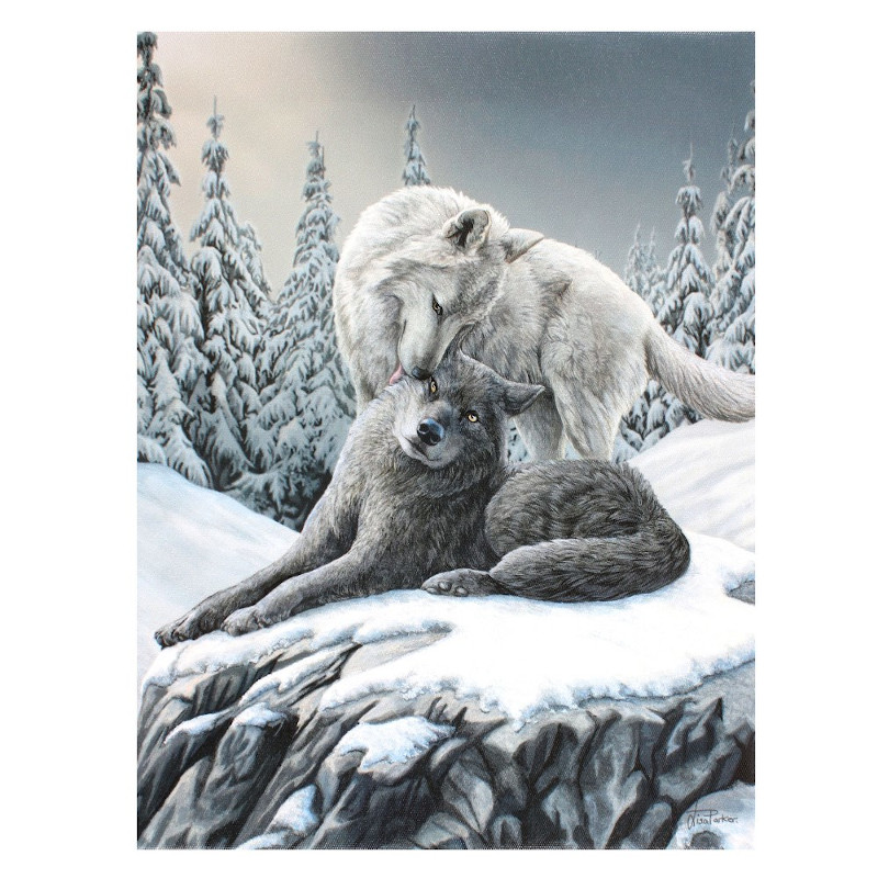Snow Kisses Canvas by Lisa Parker
