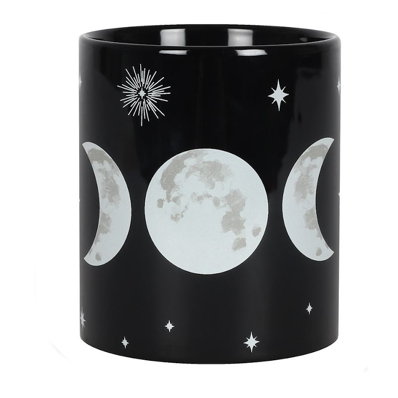 Triple Moon Black Mug