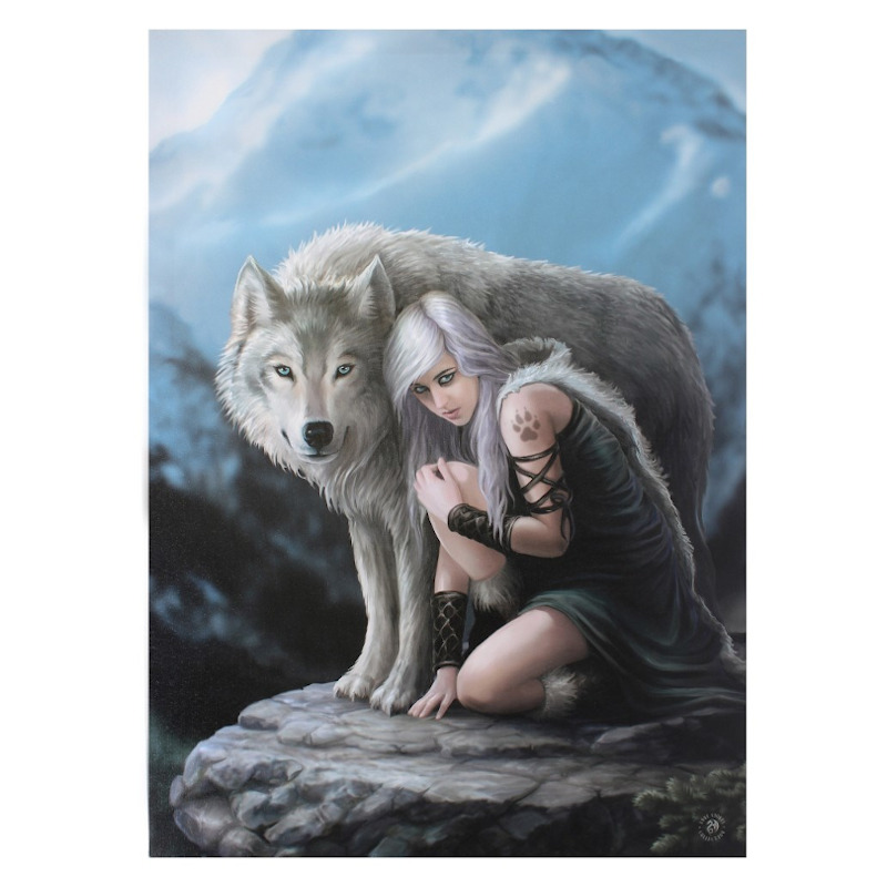 Protector Small Canvas by Anne Stokes