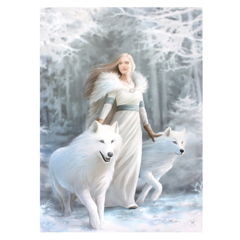 Winter Guardian Small Canvas by Anne Stokes