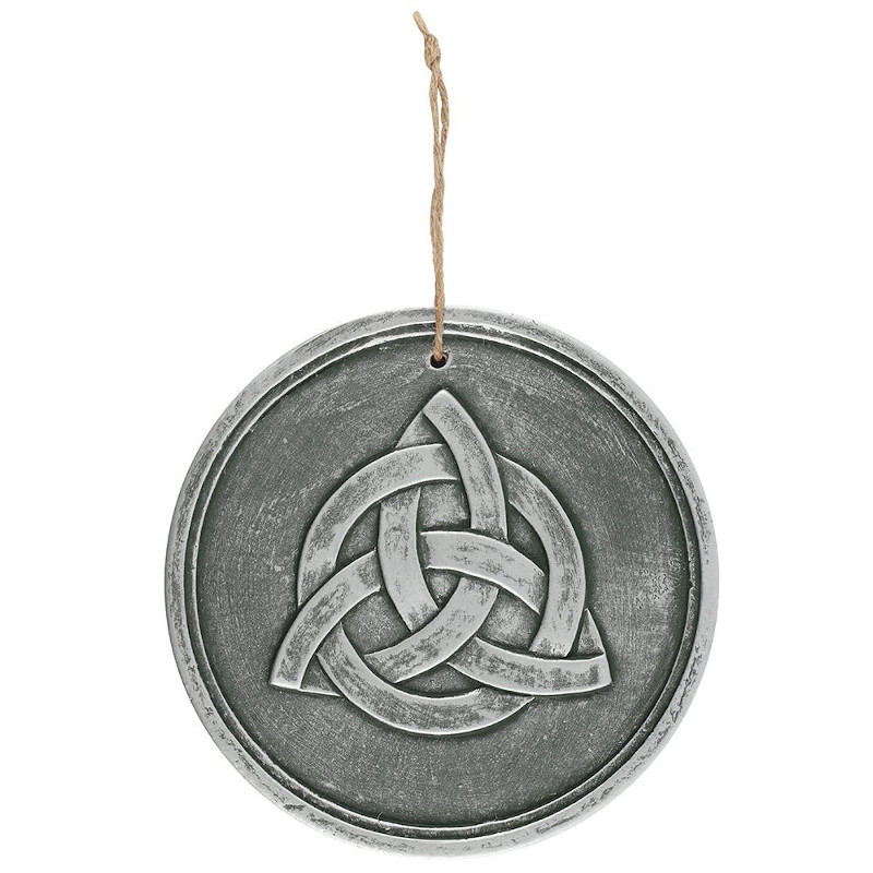 Triquetra Silver Effect Plaque