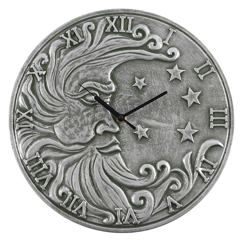 Moon Silver Effect Terracotta Clock